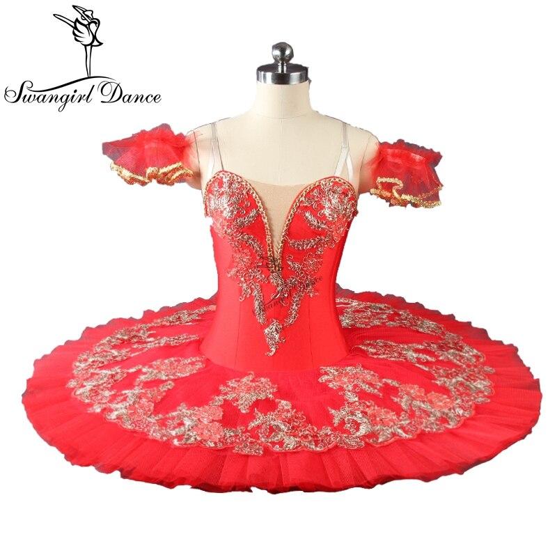 Adulte qualité supérieure rouge paquita tutu de ballet filles professionnel tutu de ballet de la performance classique s pour girlsBT9046