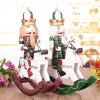 30cm Large rocking horse nutcracker birthday Christmas decoration gift