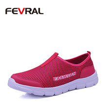 FEVRAL Woman New Breathable Mesh High Quality Casual Shoes Soft Sneakers For Woman Lightweight Shoes Summer Shoes Size 34~41(China)