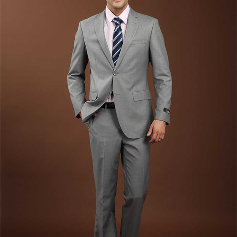 Plyesxale Для мужчин Костюмы 2018 брендовая одежда Slim Fit Для мужчин формальный костюм серый Для мужчин S Костюмы Свадебные Жених 4xl шерстяной Блейзер с брюки для девочек q74