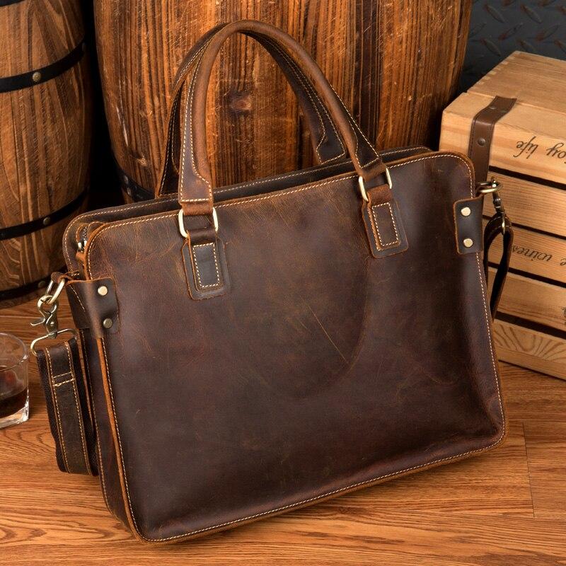 Роскошные кожаные Портфели Для мужчин Портфели кожаная сумка для ноутбука Портфель Для мужчин Бизнес сумки мужской Портфели docu Для мужчин t