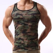 military style Tank Top Men Bodybuilding Clothing Tank Tops Shirt o neck Sleeveless Sportswear jerseys