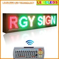 RGY 3 Colors Ultra Brightness Remote Led Display Sign Board for Outdoor Window Display