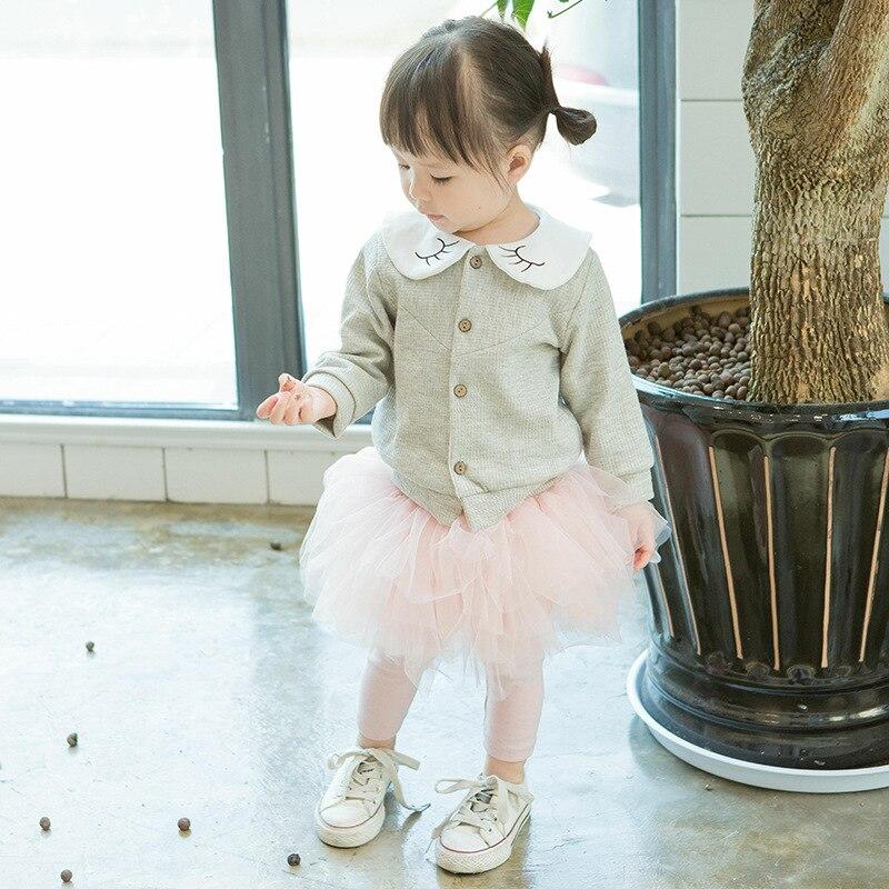 Newborn Baby Girls Pants 2018 New Autumn Solid Casual Regular High Elastic Waist Leggings Skirt Pants Baby Girls Trousers 4p017
