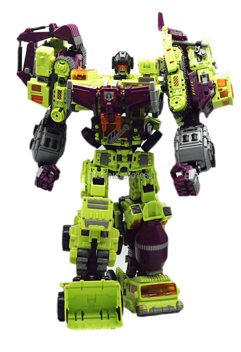 NBK Devastator 6IN1 Sets Bulldozer Schaber Mischsystems Schwerkraft Haken Builder GT KO Transformation Abbildung Spielzeug-in Action & Spielfiguren aus Spielzeug und Hobbys bei  Gruppe 3
