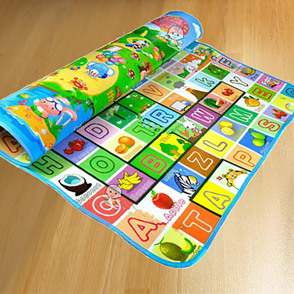 Waterproof Floor Kids Developing Play Mat Rug Child Infant Baby Kid Crawling Game Mat Two Side Waterproof Floor Kids Developing Play Mat Rug Child Infant Baby Kid Crawling Game Mat Two-Side Play Puzzles Baby Carpets Toys