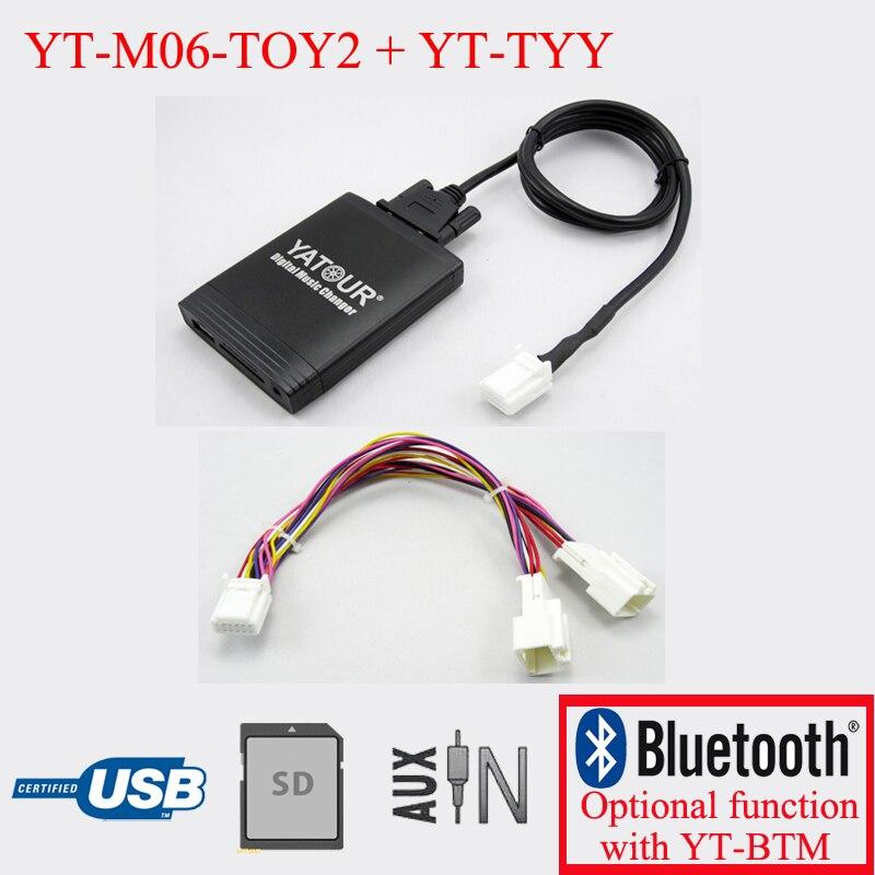 Yatour autoradio lecteur MP3 pour Toyota Lexus 6 + 6PIN radios avec système de Navigation