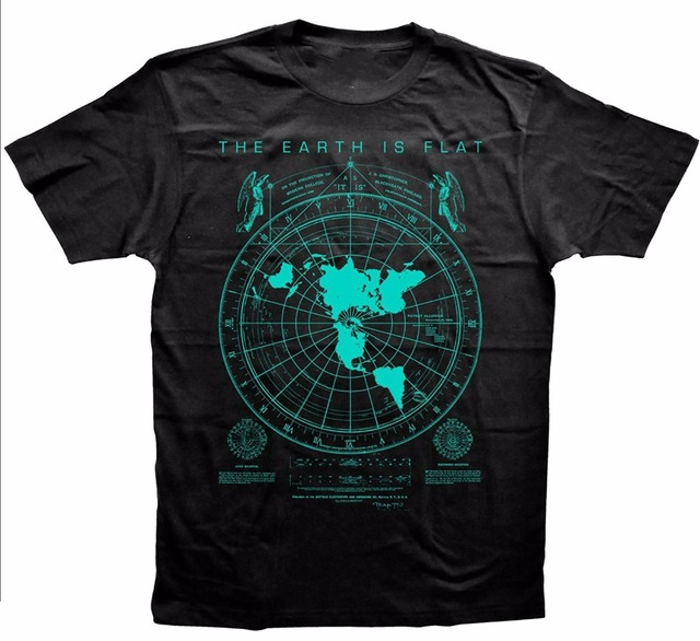 994df332b06 Tee Shirt Printing Men s Earth Is Flat Flat Earth Map Hipster Vogue Mens T- Shirt O-Neck Short Sleeve Fashion T Shirts