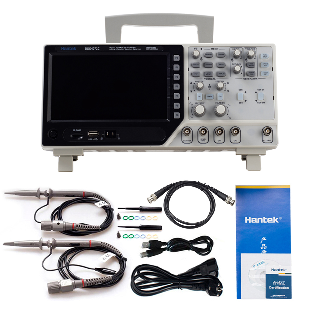 Hantek DSO4072C 2 Channel <font><b>70MHz</b></font> Digital <font><b>Oscilloscope</b></font> With 1 Channel Arbitrary/Function Waveform Generator Synchronization Signal image