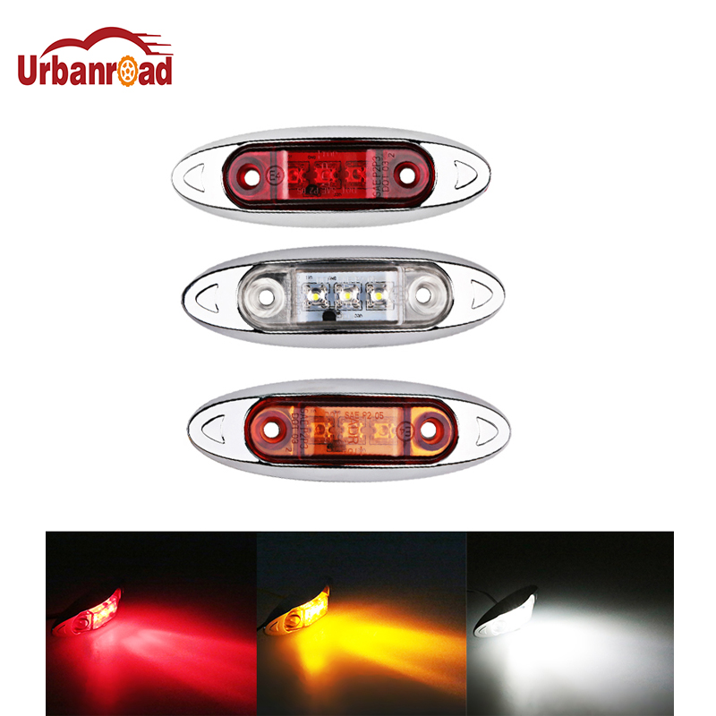 1Pcs Car Truck Side Marker Indicators Lights Lamp 9-30V 3 LED Amber Clearence light Red White for Auto Truck Trailer Lorry Bus 10pcs 6 led red white green blue yellow amber clearence car truck bus lorry trailer side marker indicators light lamp 12v 24v