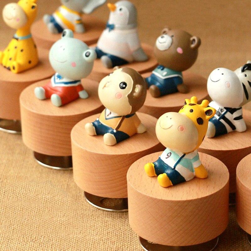 Home Sporting Kreative Kinder Geschenk Nette Tier Musik Box Holz Musik Box Geburtstag Geschenk Sky City Music Box Hause Dekoration Nette