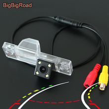 цена на BigBigRoad Car Intelligent Dynamic Trajectory Tracks Rear View Backup Camera For Chery QQ 3 Cowin 1 / X1 Tiggo 3 lifan 320 sedan