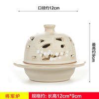 Tea incense altar ornaments fragrant aroma ceramic furnace Buddhist supplies