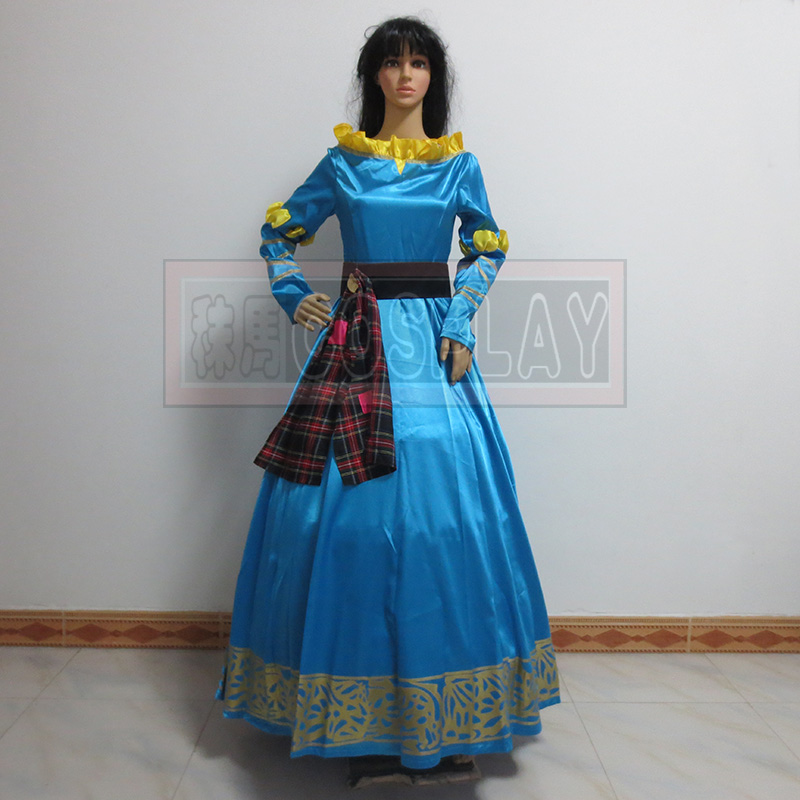 New Arrived Female Princess Merida Adult Costume Brave Merida Cosplay Dress Film/Movie Party Halloween Costumes Custom Plus Size