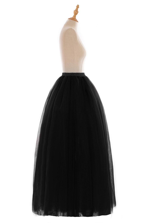 Rockabilly Black Long Bridal Petticoat Wedding Dress Underskirt Tulle Skirt Mariage Crinoline jupon femme Wedding Accessories