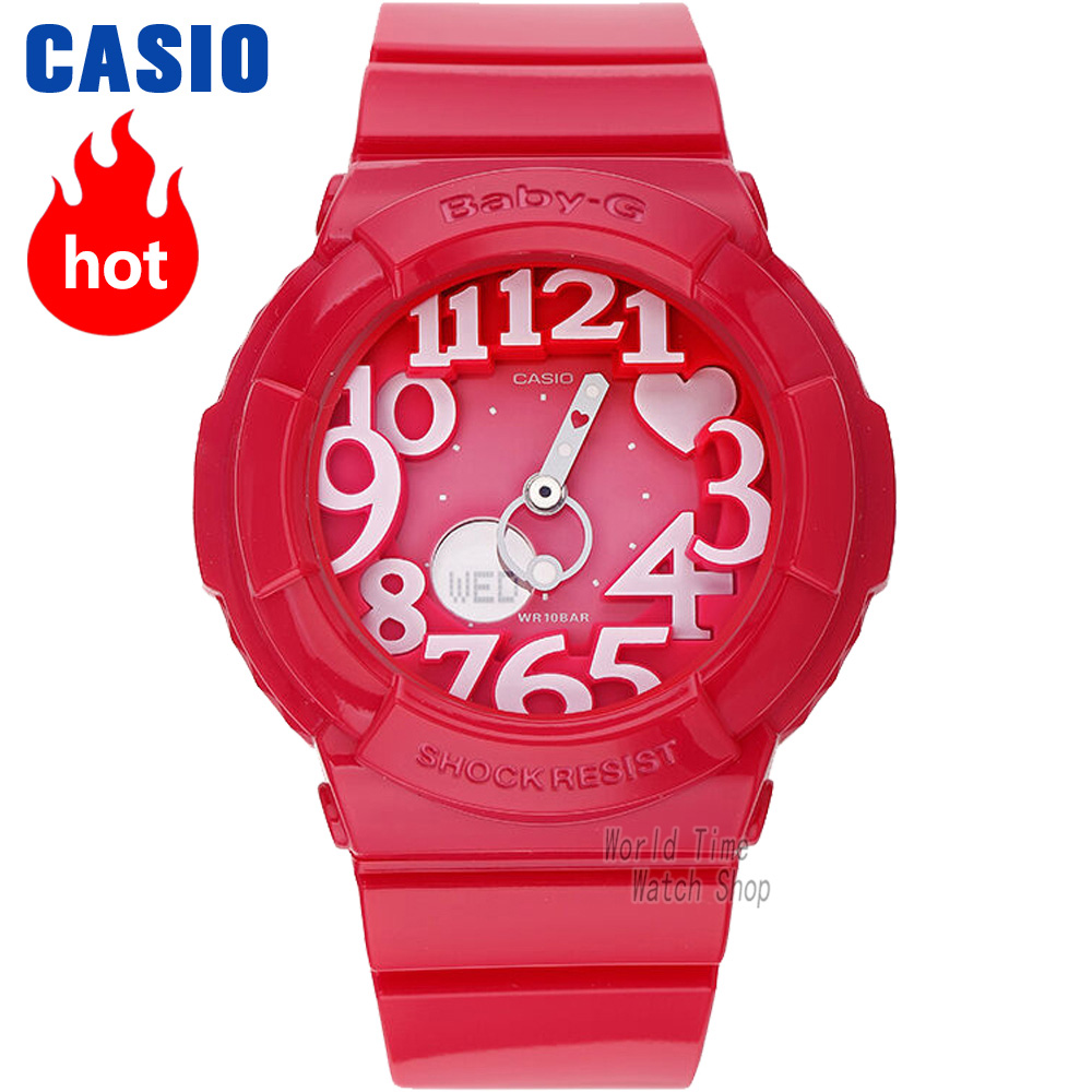 Casio watch BABY-G Women's quartz sports watch fashion trend neon light double display waterproof baby g Watch BGA-130 casio watch tide three dimensional electronic sports female watch bga 180 2b bga 180 1b bga 180 7b2 bga 180be 7b bga 180 7b1