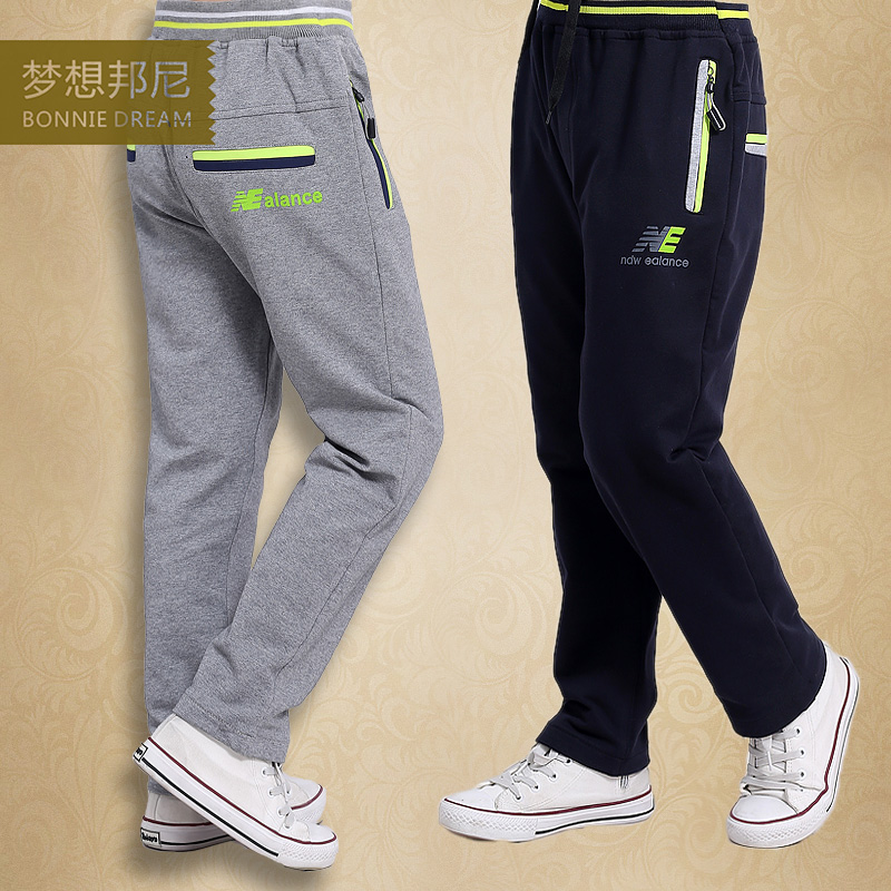 Spring 2016 new boys sports pants pants big virgin child casual pants big yards loose long pants tide the fall of 2015 to launch new products design high quality loose big yards the cowboy cotton women s nine minutes of pants