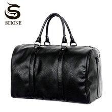 Mode-Design Große Kapazität Schulter Handtasche Reise Seesack Männer/Frauen Reisetasche PU Leder Messenger Bags Vintage Herren tasche