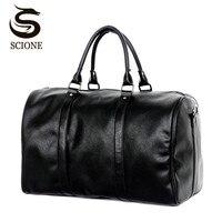 Fashion Design Large Capacity Shoulder Handbag Travel Duffle Bag Men/Women Travel Bag PU Leather Messenger Bags Vintage Mens Bag