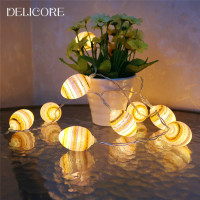 DELICORE Novelty Outdoor Lighting LED Ball String Lamps Christmas Lights Wedding Garden Pendant Garland S037