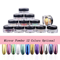 12colors/set Magic Chrome Nail Powder Mirror Effect Nails Pigment Powder Dust Laser Magical Nail Art Tools Mirror Chrome Powder