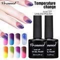 Vrenmol 1pcs Gel Nail Top & Base Coat Set Temperature Color Nail Gel UV Gel Polish UV Lamp Glue Polish for Nail DIY
