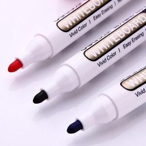 Image 5 - 1 takım/2 adet beyaz tahta marker beyaz tahta işaretleyici siyah kuru silme silgi İşaretleyiciler kalem kalemler pürüzsüz yazma mavi siyah ve kırmızı