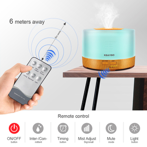 Image 3 - KBAYBO 500ml Ultrasonic Air Humidifier led light wood grain Essential Oil Diffuser aromatherapy mist maker 24V Remote Control