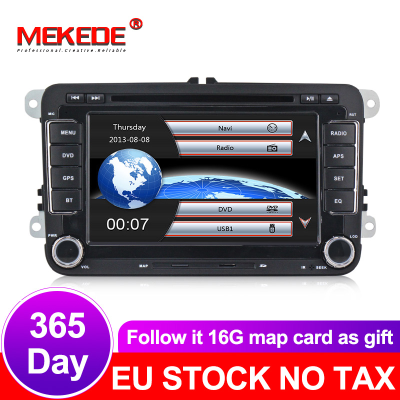 <font><b>2din</b></font> Car GPS navigation radio stereo for VW/Volkswagen/Golf/Polo/Tiguan/Passat/b7/b6/SEAT/leon car dvd player image