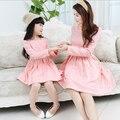 Семья Соответствующие Наряды, ребенок и мама платье, платье девушки, дети платье партии, печатные, Мать и Ребенок платье, Девушки Одежда