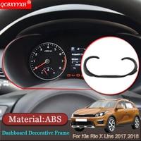 Car styling Car Interior Dashboard Decorative Frame Cover Trim Auto Stickers Accessories For Kia Rio X Line KX Cross 2017 2018