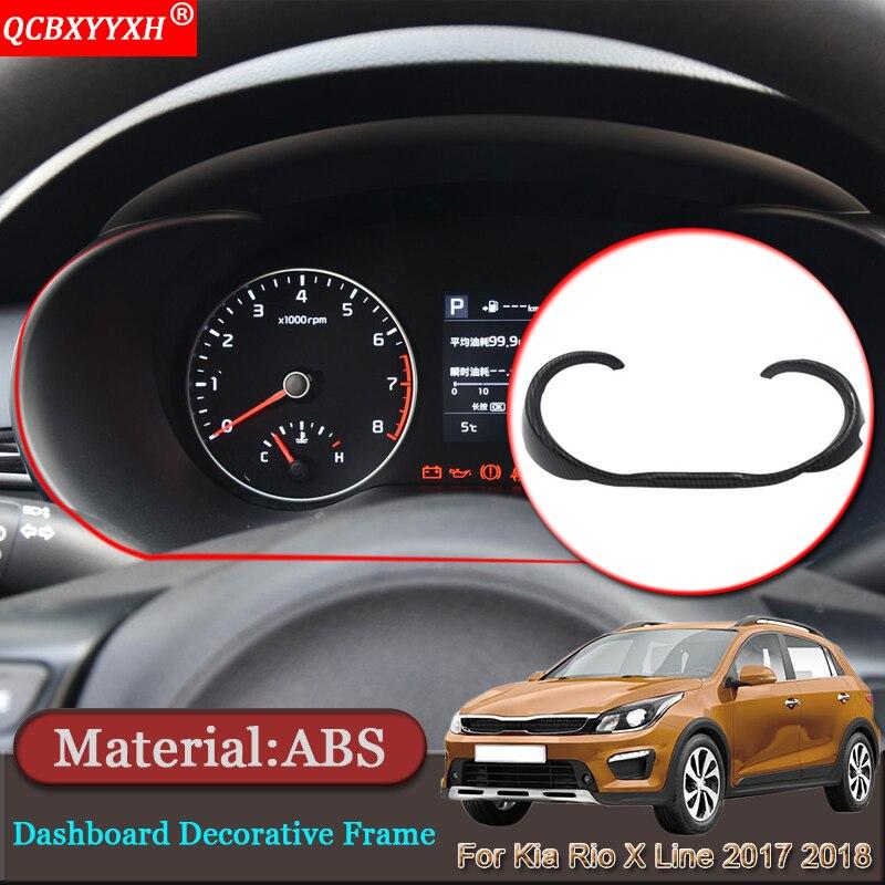 Car-styling Car Interior Dashboard Decorative Frame Cover Trim Auto Stickers Accessories For Kia Rio X Line KX Cross 2017 2018 брызговики передние и задние kx cross для kia rio x line 2017