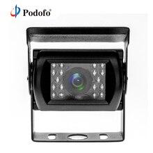 Podofo резервная камера ИК ночного видения Без направляющей линии без изменения цвета водостойкий 4 Pin авиационный разъем для автобуса/RV