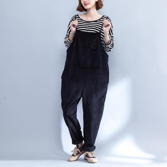 e699441818 1pc Pregnant Women Pants Casual Loose Large Size Pockets Overalls Maternity Clothing  Suspender Trousers For Pregnant Women