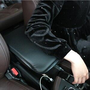 Image 5 - Авто аксессуары для автомобилей Мягкие центральная консоль для отдыха руки, коробка, Подушка накладка подлокотник сиденья защитный коврик для lifan Солано x60 x50