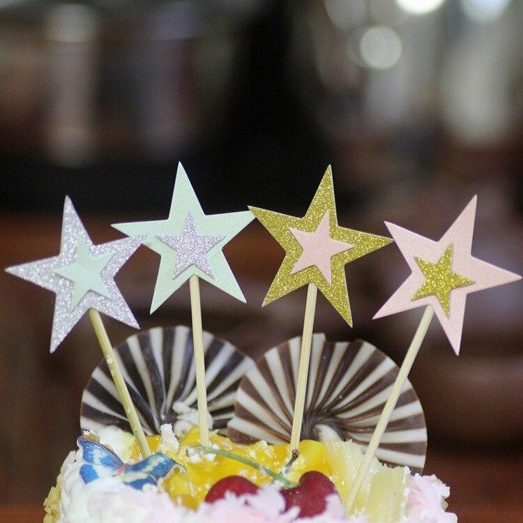 2018 kleur ster gebakken nagerecht feest kinderen verjaardagstaart - Feestversiering en feestartikelen
