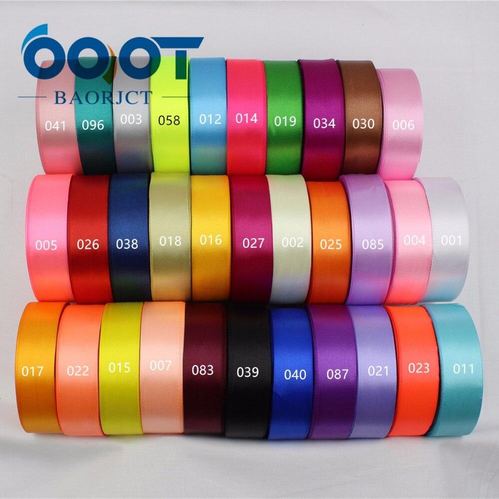 A-166925, 25 мм 32 Цвет можно выбрать 25 ярдов шелковые, атласные ленты, свадебные декоративные ленты, подарочная упаковка, DIY материалы ручной работы