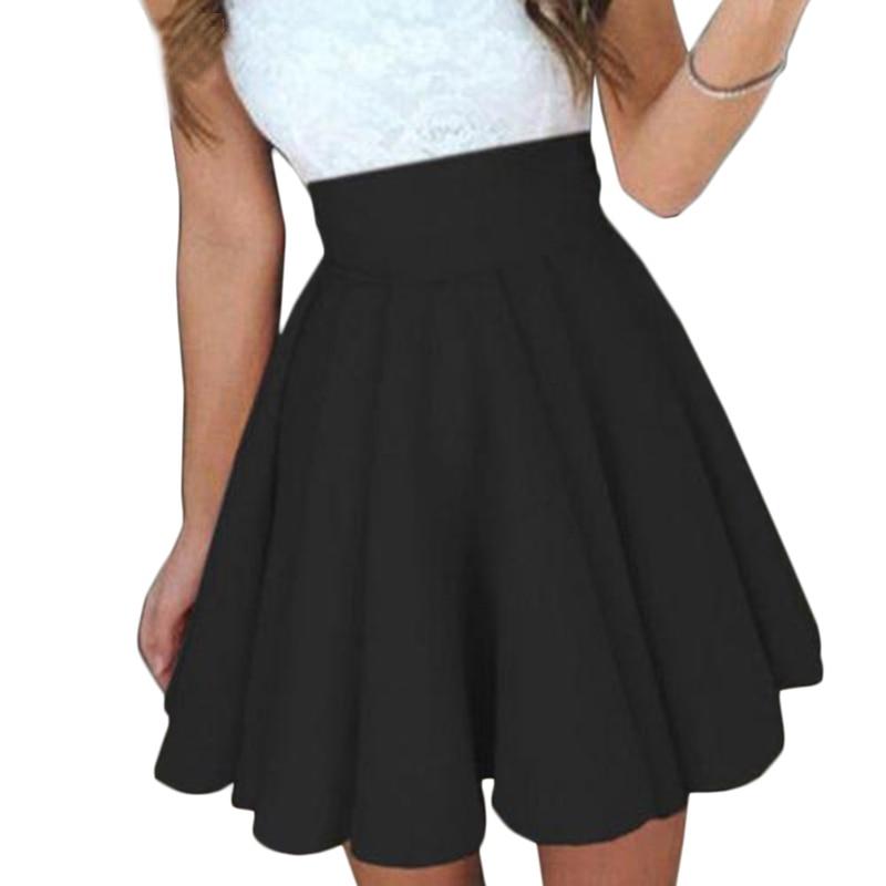 Fashion Pleated Skirt For Women All Reason School Skirt Women Dance Clothing Short Skirts Ball Gown Puff Skirt Black