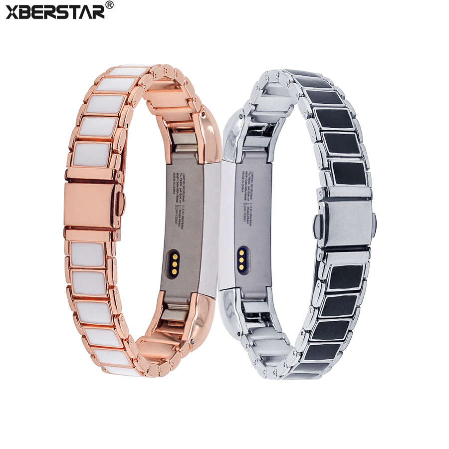 Watch Strap Wrist Band for Fitbit Alta HR 3D Dispensing Sticker Stainless Steel Link Bracelet Watchband Strap 5.5-8.1 inches New