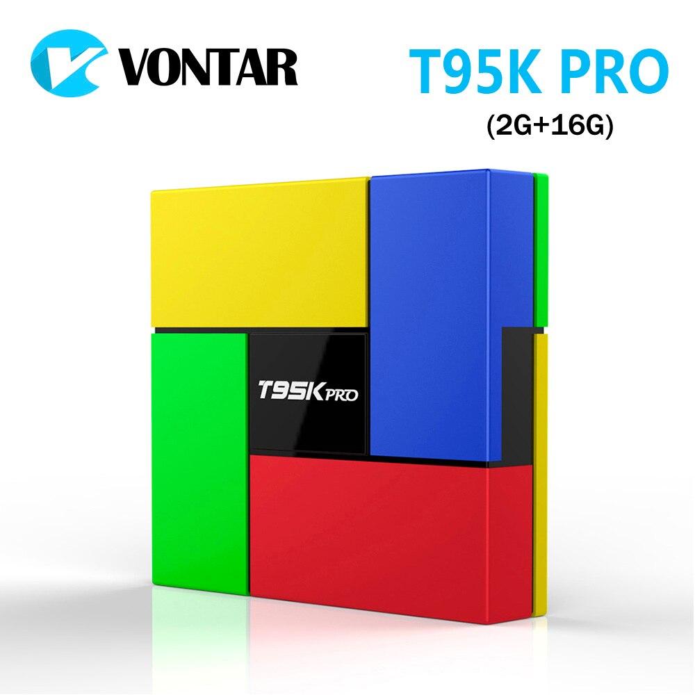 [Подлинный] VONTAR T95K PRO 2 ГБ 16 ГБ Amlogic S912 Octa Core Andorid 6,0 ТВ BOX 2,4 г /5 ГГц Двойной Wi-Fi BT4.0 4 К H.265 VP9 телеприставке