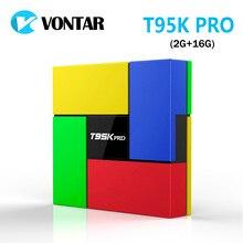 [Véritable] T95K PRO 2 GB 16 GB Amlogic S912 Octa Core Andorid 6.0 TV BOX 2.4G/5 GHz Double WiFi BT4.0 4 K H.265 VP9 HDR