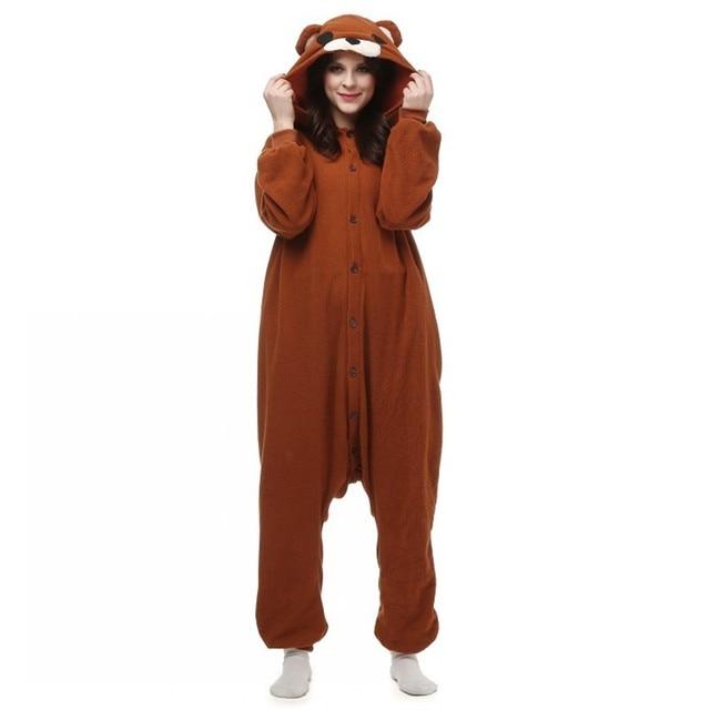 Pedo Bear pedobear Brown Bear Cute Little Bear Soft Pajamas Anime Cosplay Tenorikuma Costume Unisex Adult Onesie for Men Women