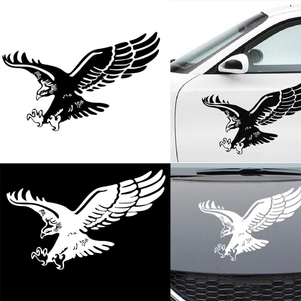 Car Stickers Reflective Eagle Decal Vinyl Auto Door Hood Cover Sticker Exterior#