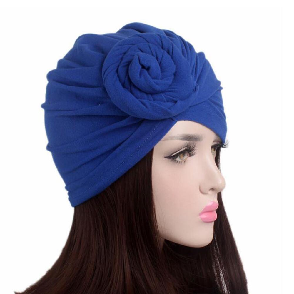 Image 5 - Women Indian Knot Bonnet Chemo Cap Turban Hats Beanie Head Scarf  Wrap Ramadan Hair Loss Islamic Headwear Inner HatWomens Skullies