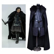 La MaxPa Halloween Jon Snow Cosplay Costume Performance Party Set Power Game Men's