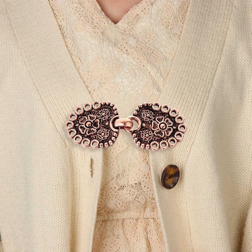 Vintage Cardigan Bebek Klip Pin Wanita Selendang Blus Kerah Sweater Syal Gesper Anting-Anting Aksesoris Selendang Bros Klip Gesper Pin