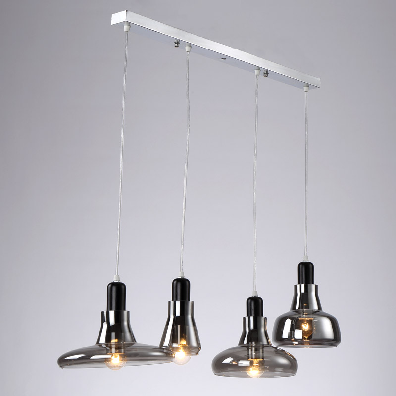 Glass Pendant Light Vintage Rope Lamp Loft Suspension Luminaire Restaurant Kitchen Black Iron Decor Home Lighting