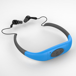 Image 5 - IPX8 impermeable 8GB 4G deportes subacuáticos música MP3 Player Neckband Stereo Audio auriculares con FM para buceo piscina