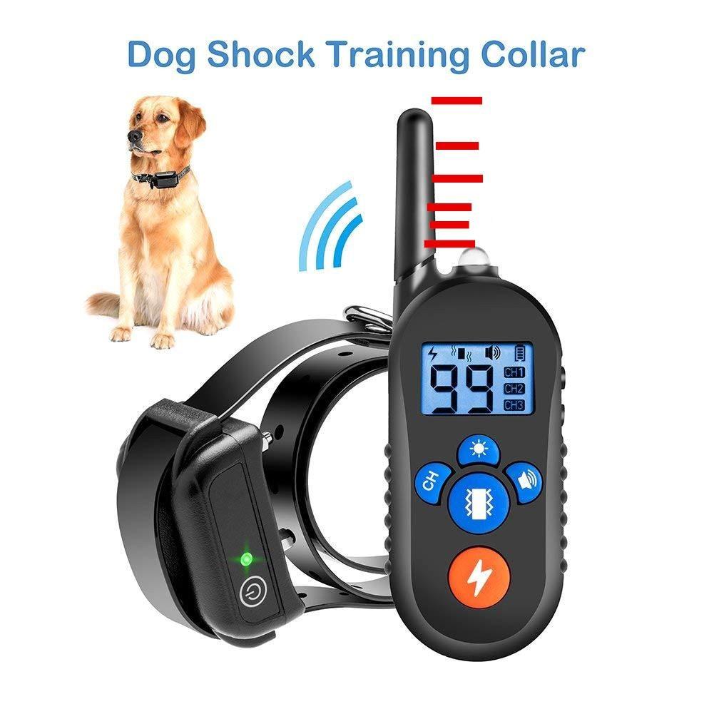 US/UK Spina di UE Pet Forniture Dispositivo di Addestramento del Cane Che Abbaia Fermacorda e ganci Elettrico di Vibrazione di Scossa di Avvertimento Elettrico Collare per Puppy pet