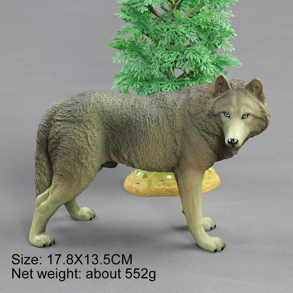 Wolf Family Toy : Hot toys for children animal model toy wolf pvc plastic